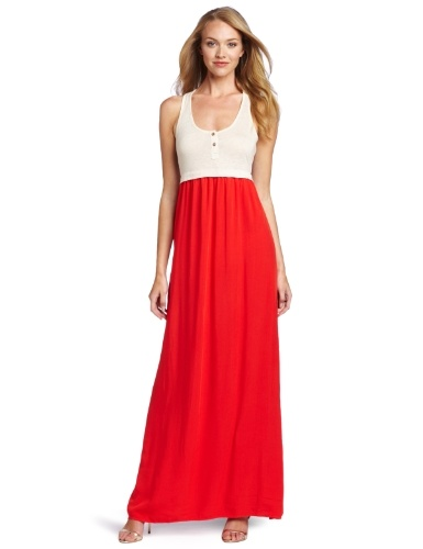 Splendid strapless blouson maxi dress paprika health