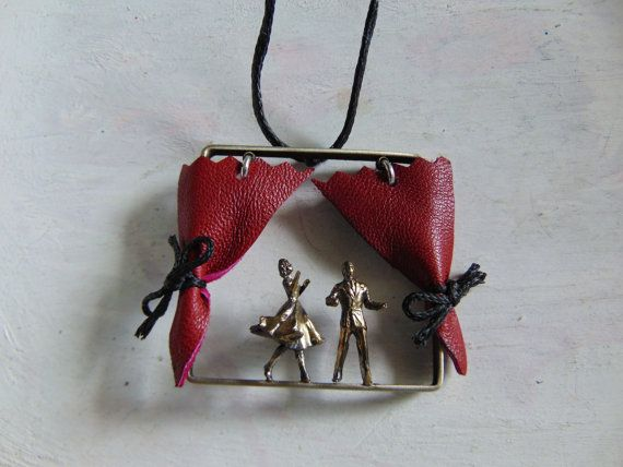 Theatre Scene Necklace Theatre Handmade by pepeyoyojewellery