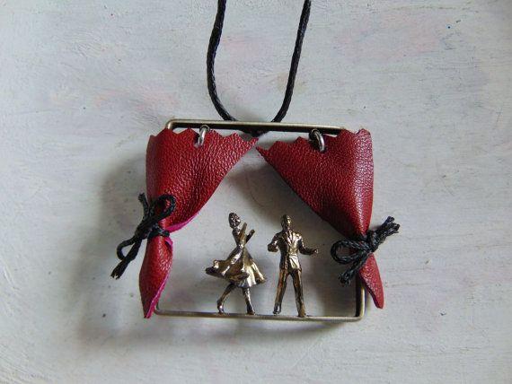 Theatre Scene Necklace Theatre Handmade by pepeyoyojewellery