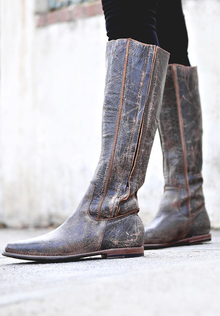 3396cd3c4d07 Step out in BEDSTU brown distressed handmade boots.