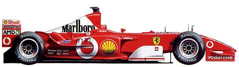 The car that delivered the four championship in a row for Michael Schumacher. F2003-GA