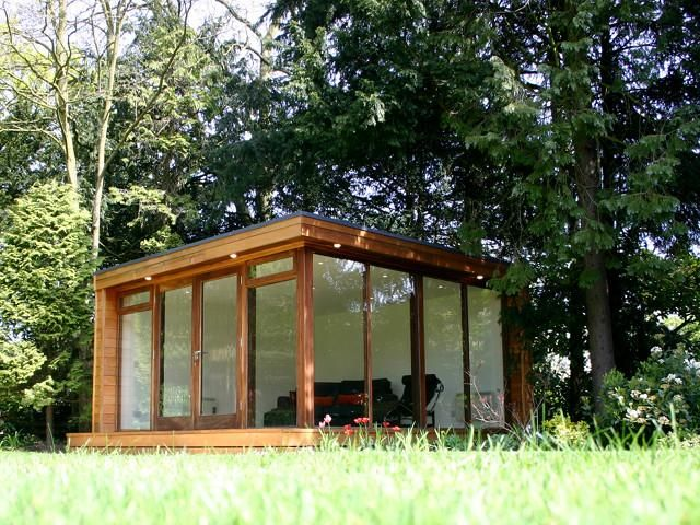 Built in September, 2005 this #eco #gardenroom includes floor to ceiling glazing on two sides