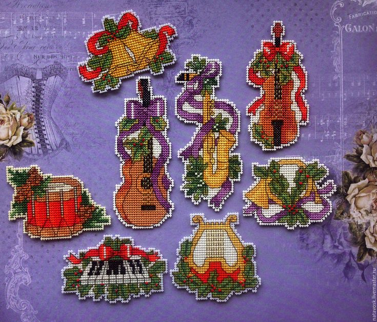 Buy Cross stitch magnets Christmas ringtones