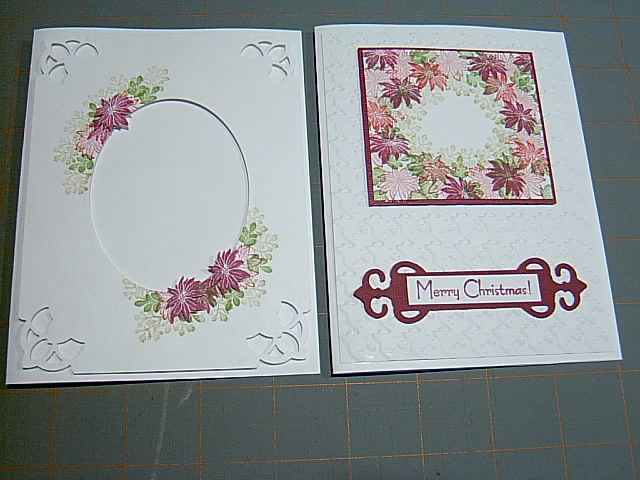 A lovely red stamped card on bright white card stock using Rubber Stamp Tapestry Poinsettia Wreath Peg Stamp Set. http://www.rubberstamptapestry.com/Poinsettia_Wreath_p/sho20005.htm