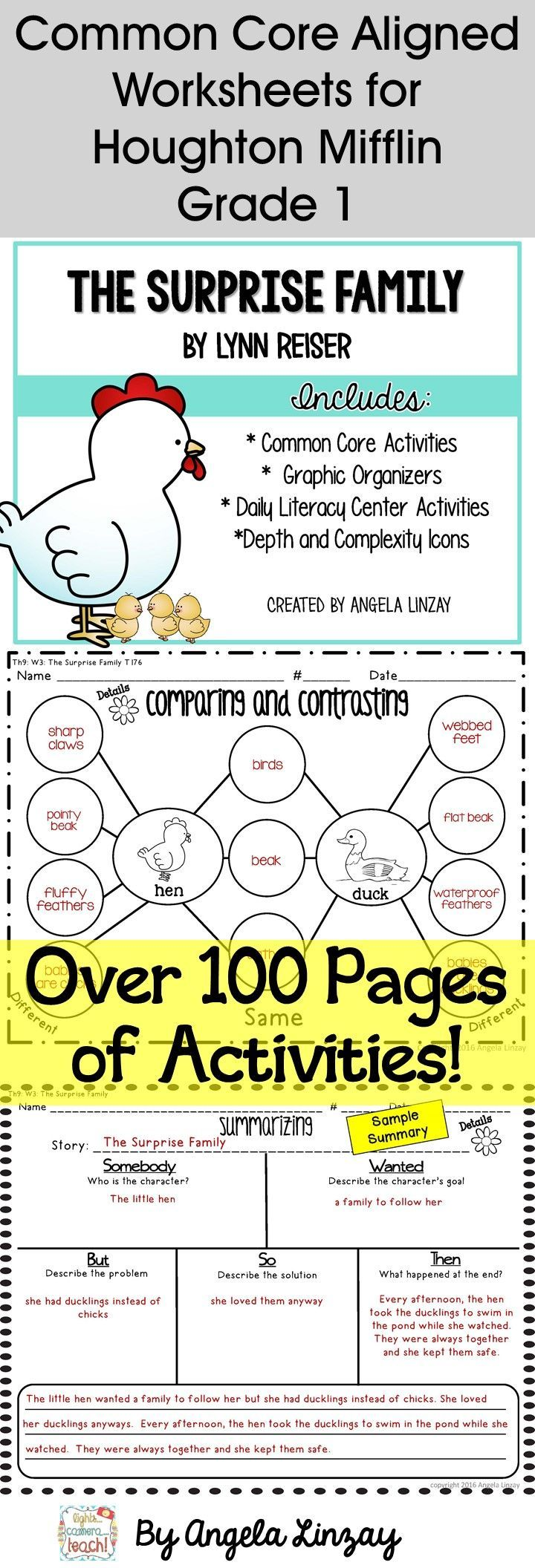 The Surprise Aligning 1st Grade Houghton Mifflin To The Common Core Teaching Writing Common Core Activities Opinion Writing Activities [ 2112 x 720 Pixel ]