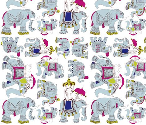 Elephants on Parade fabric by mollymacliving on Spoonflower - custom fabric