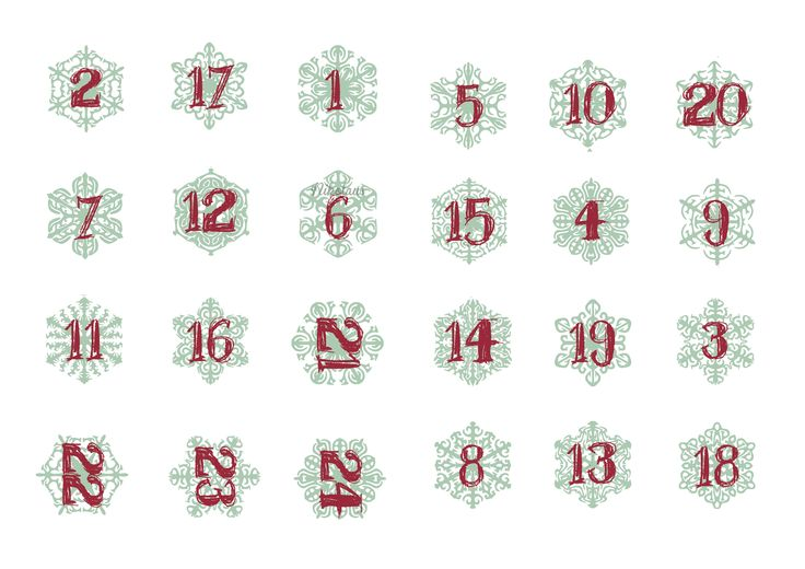 ... on Pinterest   Number stencils, December daily and Advent calendar