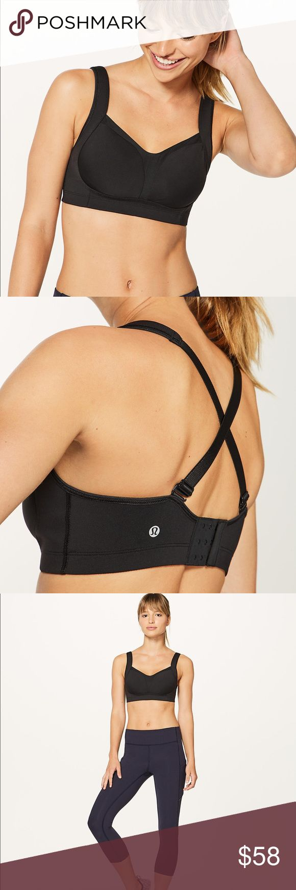 Lululemon Black Ta Ta Tamer III Sports Bra 32E Tata tamer 3 sports bra. NWT. Heavy duty support, separation, and coverage that you crave. Made with Luxtreme® fabric that is sweat-wicking and four-way stretch with a cool, smooth feel. The straps can be adjust criss cross or standard front to back.   Comes with the proper cut and removable pads, specifically for this Sports Bra.   These are made for high impact and for tanks without built in bras. Can be used as a regular support bra and…