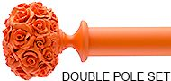 Byron & Byron 35mm & 55mm Neon Floral Double Pole Orange, Posy