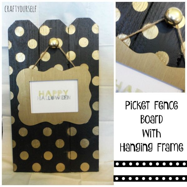 Picket fence board with Hanging frame - Craft