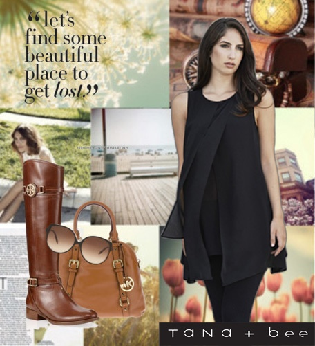 Put on your favorite boots with Tana+Bee's Layered Chiffon Rayon Top and look fabulous!