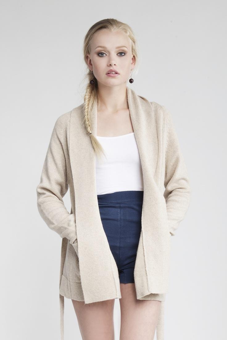 MASKA Eva wool wrap cardigan | 100% extra fine lambswool | Knitted in the EU