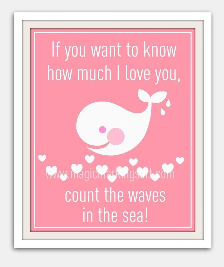 Nursery Art For Children Kids Wall Art Baby Girl Nursery Baby: Baby Girl Nursery Decor- Children's Wall Art- Pink Whale