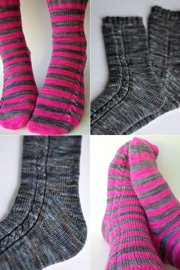 Pattern For Knitting Socks On 9 Inch Circular Needles : Socks On a Plane ... knit toe down with two circular ...
