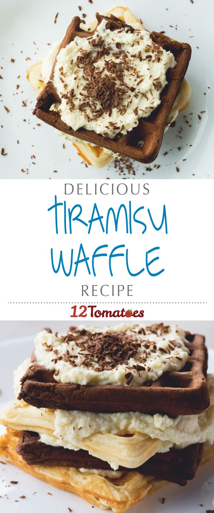 Tiramisu Waffles | Now we can have a favorite dessert for breakfast…. And who doesn't want that?!