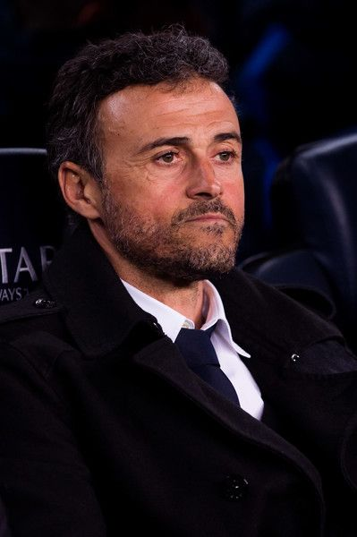 Head coach Luis Enrique Martinez of FC Barcelona looks on before the La Liga match between FC Barcelona and Valencia CF at Camp Nou stadium on March 19, 2017 in Barcelona, Catalonia.