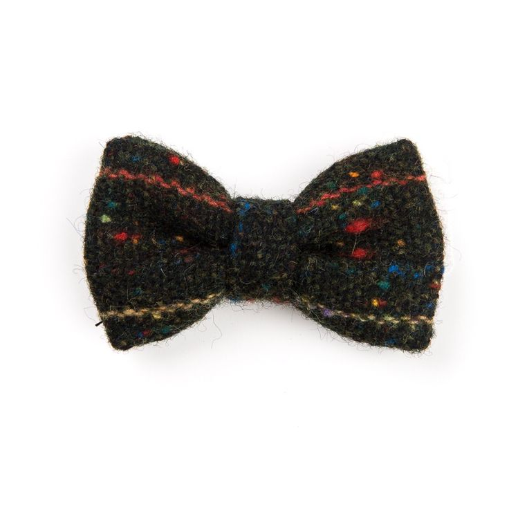 """Stippled Soot"" (Kids) #Donegal #tweed #bowtie. FREE Worldwide Shipping!"