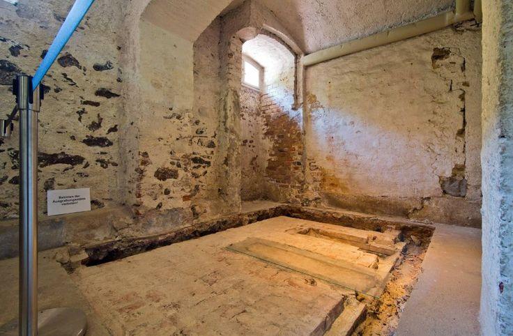 Das  Krematorium  im Keller der früheren Tötungsanstalt Hadamar (Foto von...