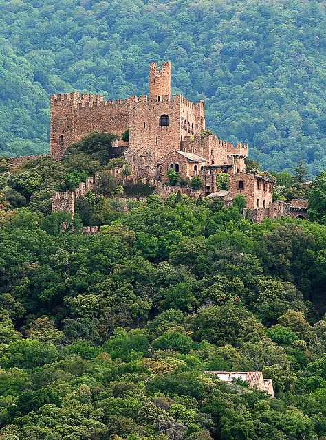 Castel Requesens - Catalonia, - Probably existing since the 9th century, the castle is mentioned for the first time in the 11th century.  In the 19th century, the ruined castle was rebuilt in a neo-medieval style.