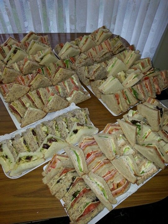 Chinita Catering assorted sandwiches