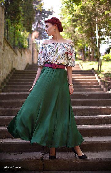 Get this look: http://lb.nu/look/8217929  More looks by Anaivilo B: http://lb.nu/anaivilo  Items in this look:  Stradivarius Cotton Blouse, Zara Silk Maxi Skirt   #bohemian #chic #romantic #casual #feminine #retro