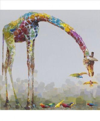 Quadro Giraffa Moderno Misura Grande