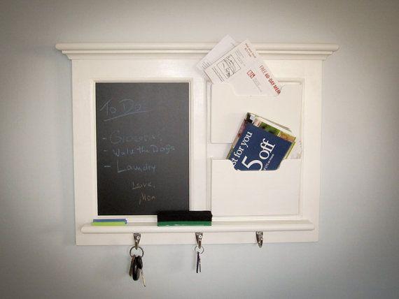 Wall Mail Organizer Magnetic Chalkboard Blackboard On Etsy