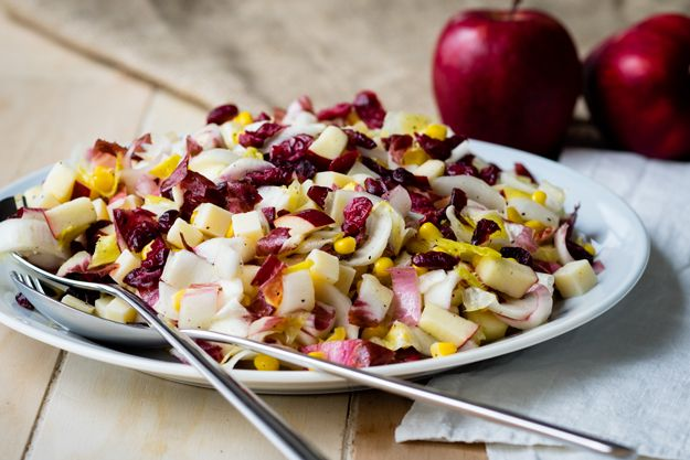 This Apple and Endive Salad is a stunning fall salad when set out on the table. Serve it on a large platter because it's a feast for the eyes and stomach.