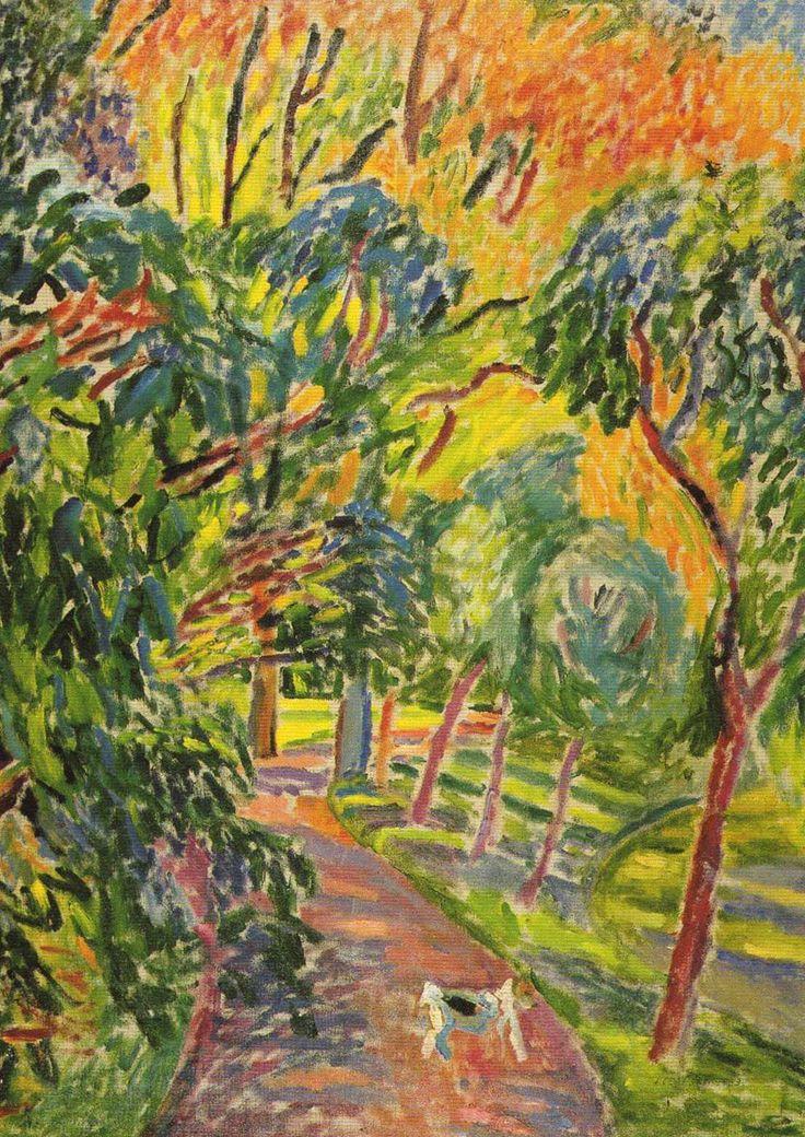 """Józef Czapski """"Alejka w parku"""", 1933, olej na płótnie, 100 x 73 cm, Muzeum Narodowe, Warszawa"""