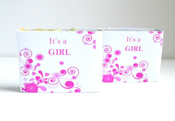 Its a Girl 150 Customized Baby Shower  Soaps by NaturalBeautyLine