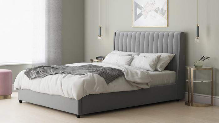 Grey Lift Up King Size Beds With Storage Underneath And Grey