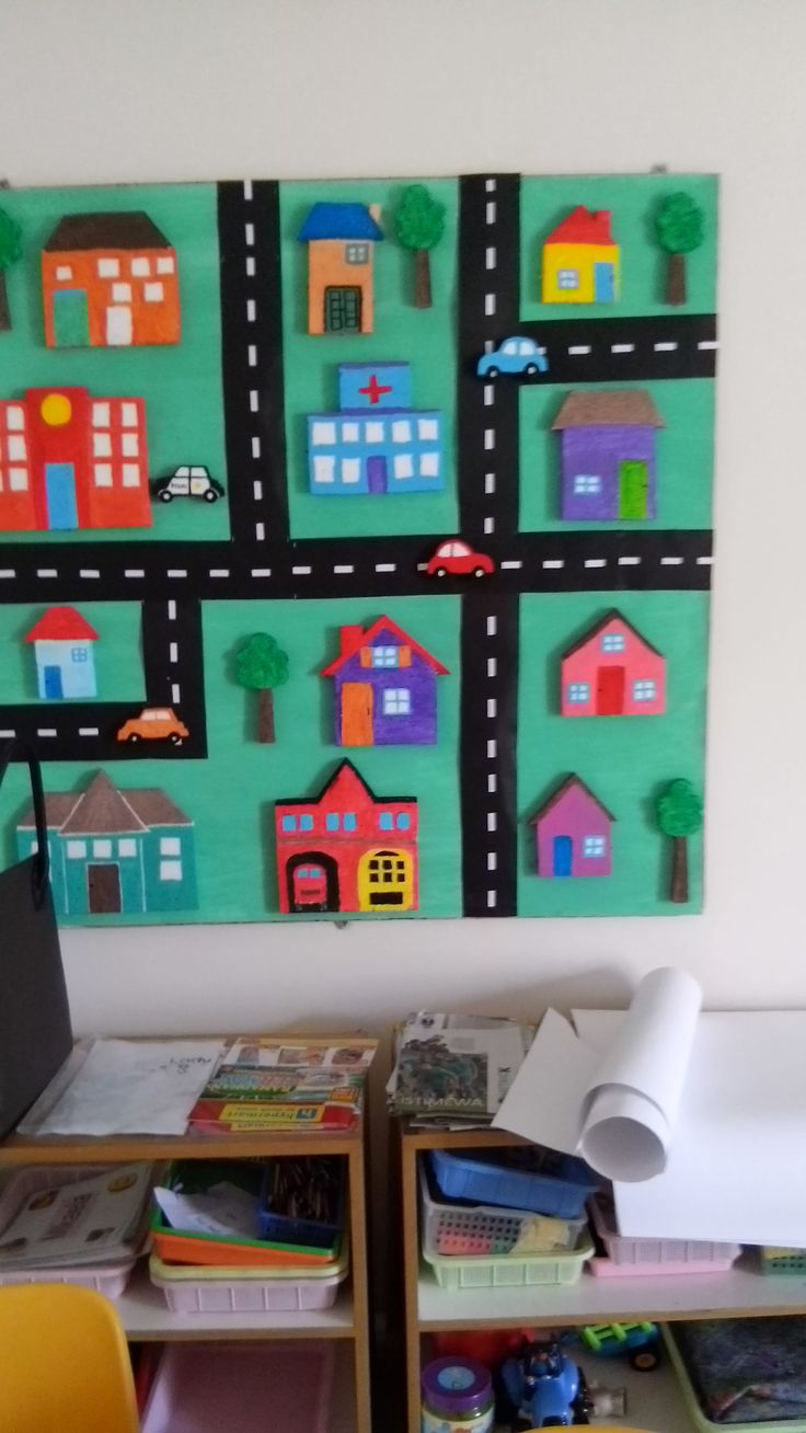 Classroom decoration. Theme : Transportation. We had made this from Styrofoam but you can use recycle boxes instead.