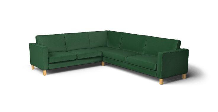 Karlstad Corner Sofa Cover - Beautiful Custom Slipcovers | Comfort Works Green Velvet 😍