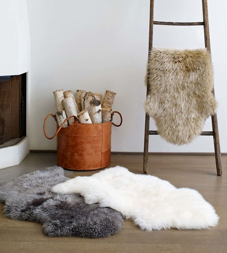 This versatile design element makes a dramatic statement in any room. Made with premium sheepskin, this rug offers natural beauty and tactile appeal that may make you want to forgo your furniture for the floor.