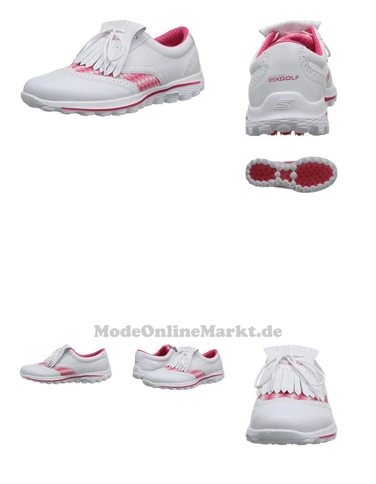 0884390965817 | #2016 #Ladies #Skechers #Go #Golf #Kiltie #Leather #Womens #Street #Golf #Shoes #White/Pink #4UK