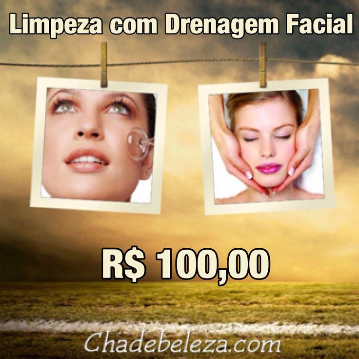 Limpeza de pele com Drenagem Facial