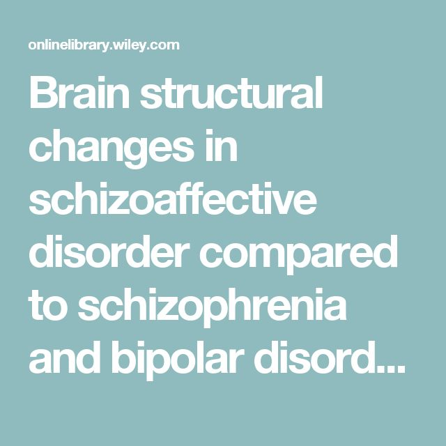 Brain structural changes in schizoaffective disorder compared to schizophrenia and bipolar disorder - Amann - 2015 - Acta Psychiatrica Scandinavica - Wiley Online Library
