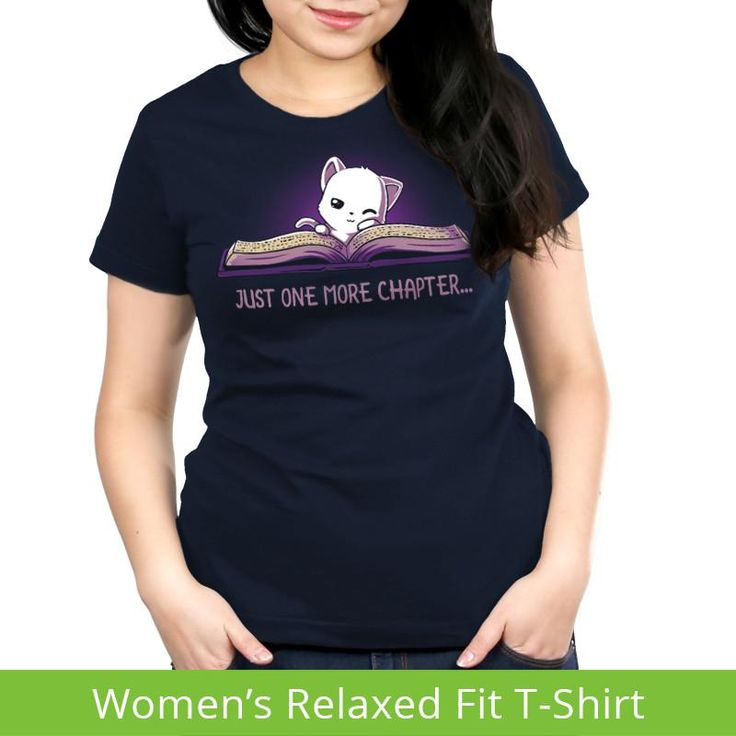 Just One More Chapter Women's Relaxed T-Shirt model TeeTurtle