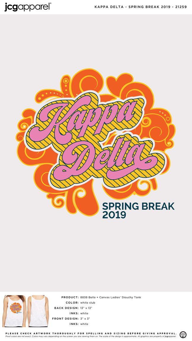 d24576143 Kappa Delta Spring Break Shirt | Sorority Spring Break | Greek Spring Break  #kappadelta #kaydee #kd #spring #break #colorful #design
