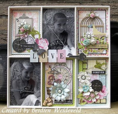 Scrap from Bemmel. Even though this is a tray, it would make a great scrapbook layout. Love it!