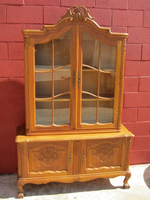 French Antique Display Cabinet Bookcase Dining Room Furniture