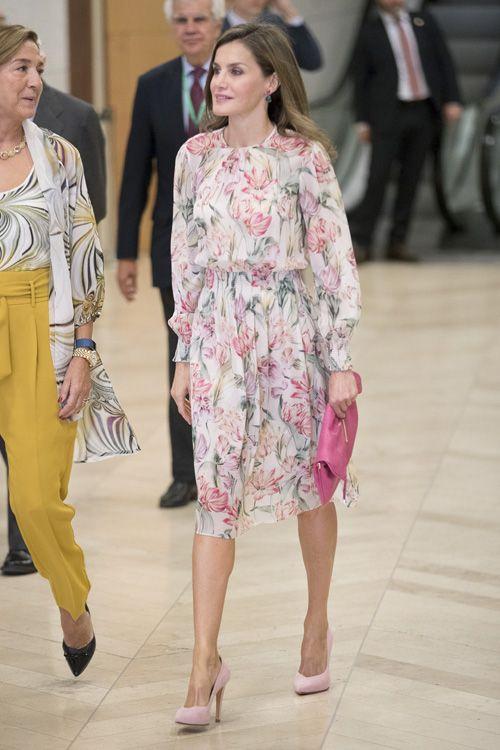 La Reina de Zara,  en el Museo Nacional del Prado con motivo del 'Día Mundial de la investigación contra el Cáncer'. 22.09.2017
