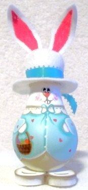 Girl easter bunny painted light bulb crafts easter by giftshop1