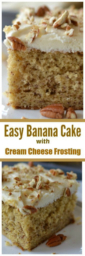 Easy Banana Cake with Cream Cheese Frosting
