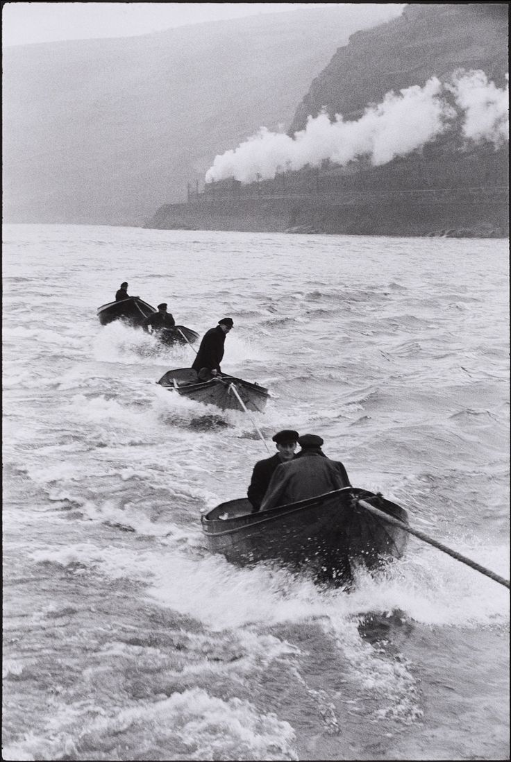 Henri Cartier-Bresson, On the Rhine river, 1956, Auction 988 Photography, Lot 92