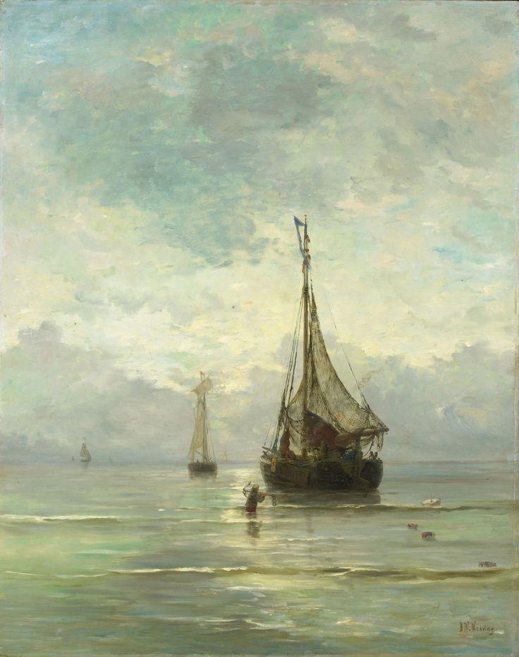 Hendrik Willem Mesdag, Calm Sea. 1900 (Haagse school)