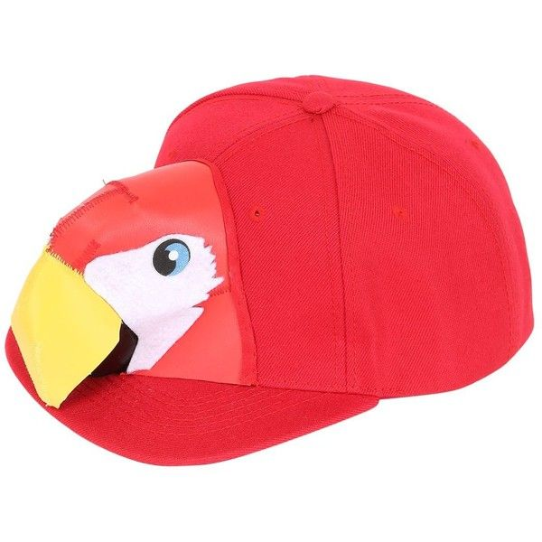 FRANCESCO BALLESTRAZZI Limit.Ed Macaw Head Baseball Hat ($140) ❤ liked on Polyvore featuring accessories, hats, red, baseball hats, red hat, baseball cap hats, red baseball cap and red baseball hat