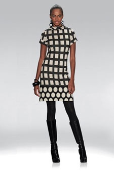 "ETCETERA - ""ROCKEFELLER"" $250 Geometric stretch knit jersey A-line shift dress: Fall Style, Fabulous Fashion, Fashion House, Fall Fashion"