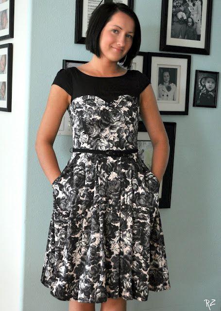 Adding sleeves to a sleeveless dress.