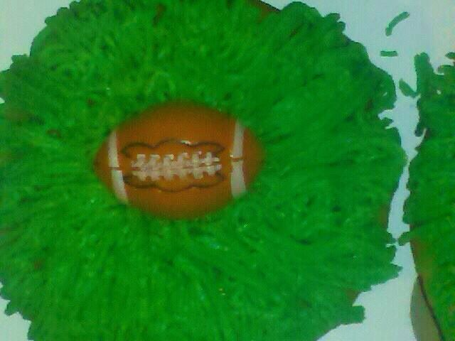Football cup cake